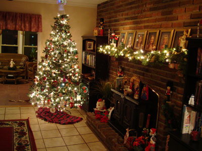 Christmas Tree Living Room my living-room christmas tree | nice deb