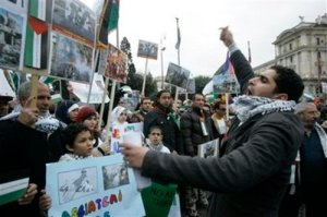 ITALY MIDEAST PROTEST