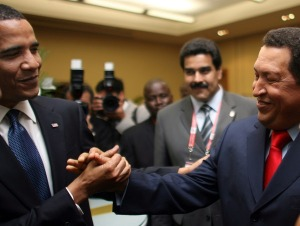 Brother Obama and comrade Chavez.