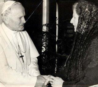 Margaret Thatcher Pope John Paul II