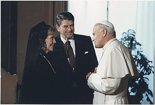 nancy reagan pope jp