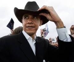 obama-black cowboy hat