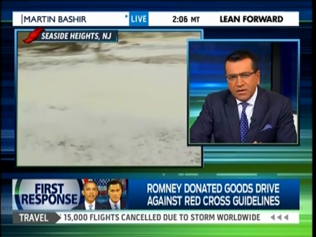 Msnbc Ridicules Romney For Collecting Food And Supplies For Sandy Victims