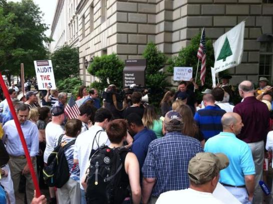 IRS dc protest