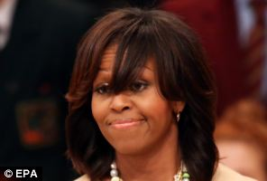 michelle obama bangs