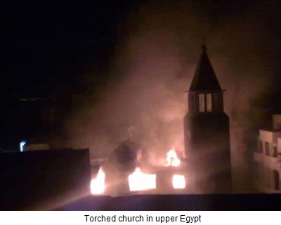 torched church