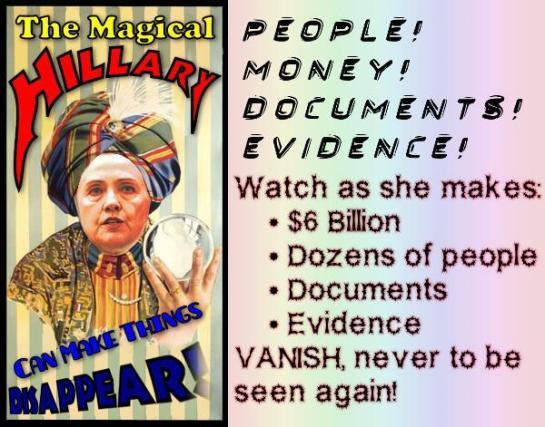 Hillary-Clinton-magician-corrupt-thief-liar-steals-138880924775