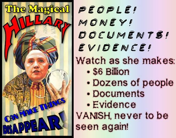 Hillary-Clinton-magician-corrupt-thief-liar-steals-138880924775