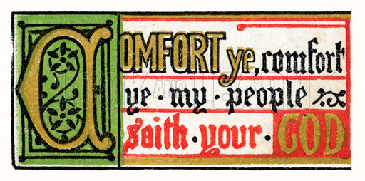 Comfort ye, comfort ye my people saith your God